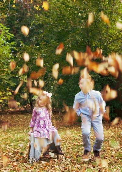 Enjoying The Beauty of Fall Through My Children's Eyes