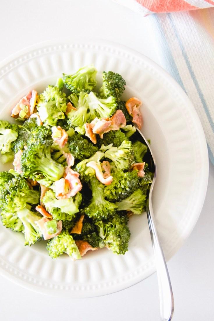 Creamy Broccoli Bacon Salad