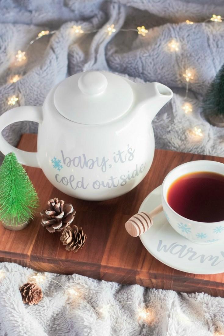 Custom Teapot Set Made With the Cricut Maker