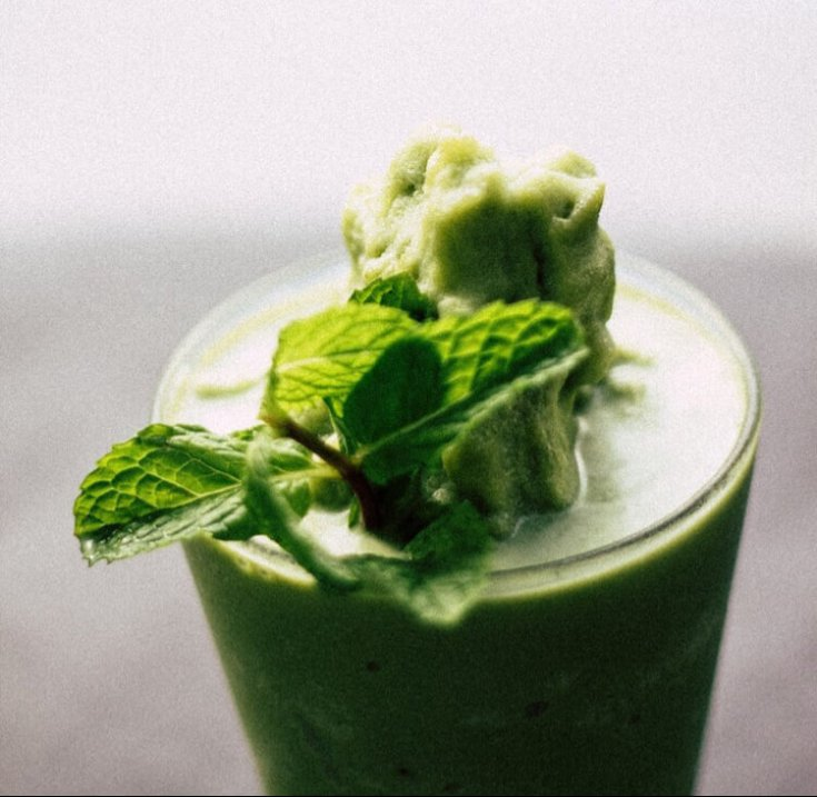 Healthy Matcha Ginger Frosty Recipe