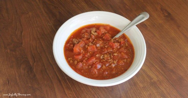 Easy Homemade Chili Recipe - A Whole 30 Chili Recipe