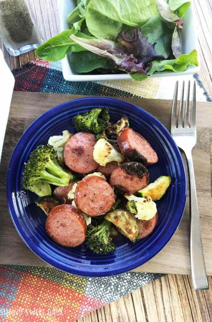 Whole30 Dinner Recipe: Smoked Sausage and Vegetables