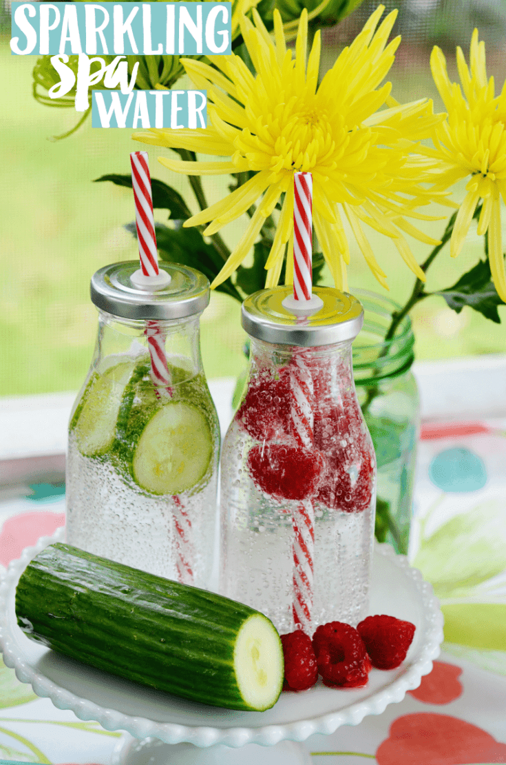 Whole30 Drink Ideas: Sparkling Spa Water