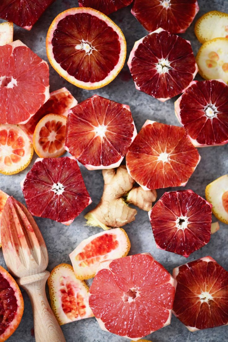 Ginger, Grapefruit & Blood Orange Juice Recipe