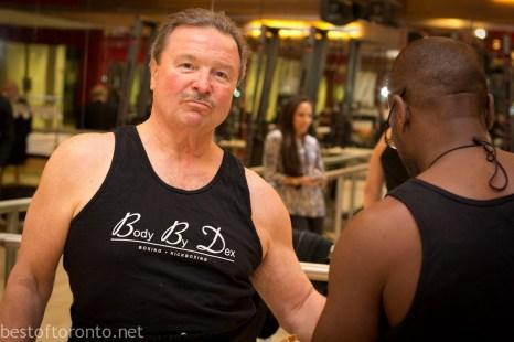 66 year old Dennis Vanfleet preparing for his fight