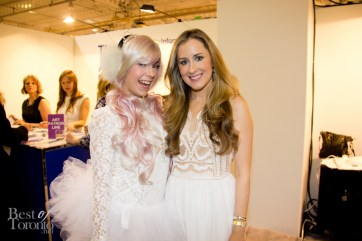 Our friend, Clara Venice, with Claire Taylor, The Artist Project's show director