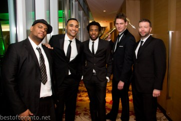 Sean Jones and his band before going on stage