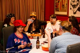 Somehow it turned into a poker game with the chefs afterwards!