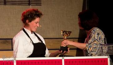 Alexandra Feswick receiving the award