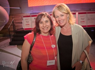 Our friend Sari Colt with Arlene Dickinson