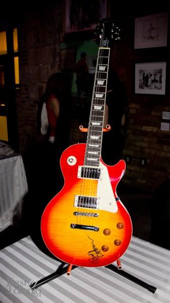 Silent auction item: Guitar autographed Randy Bachman