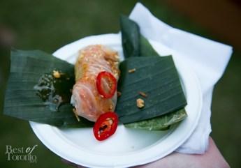 This tiger prawn fresh roll by Trios Bistro was delicious