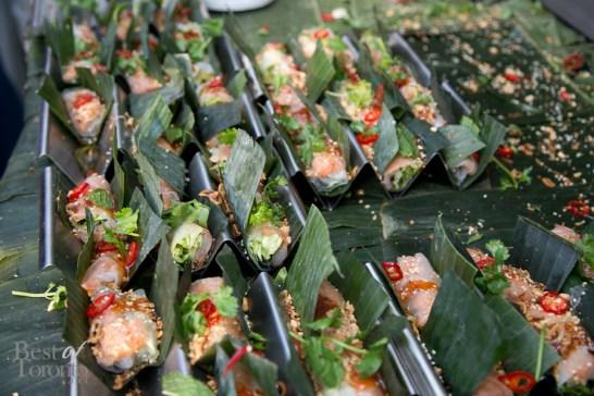 Tiger prawn fresh roll by Trios Bistro