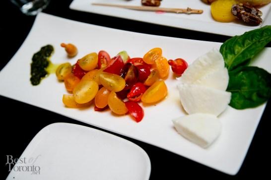 Heirloom tomatoes with mozzarella