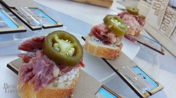 Cote De Boeuf: Open-faced Corned Beef served on Baguette