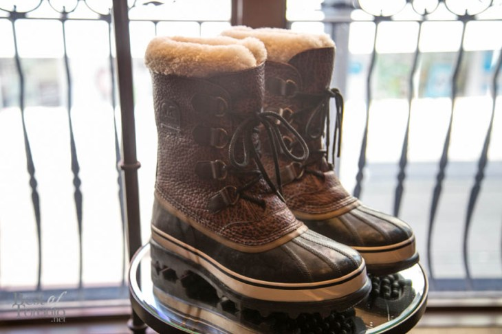 The Bison Boot made by Sorel. Made from durable, American Bison featuring full grain leather and a removable genuine shearling inner boot with sheep shearling cuff. The entire boot is waterproof insulating the boot from the ground cold. $450