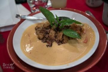 Crispy panang beef