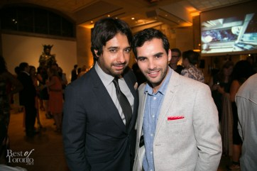 left: Jian Ghomeshi, Producers Ball at the ROM