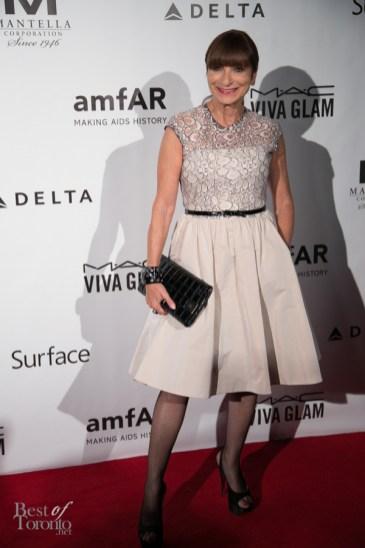 Jeanne Beker, amfAR gala, The Carlu
