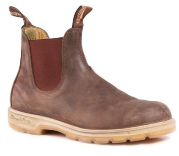 Rustic brown with two-tone sole
