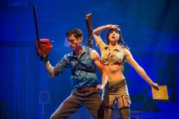 Ryan Ward and Laura Tremblay in Evil Dead   Photo: David Hou