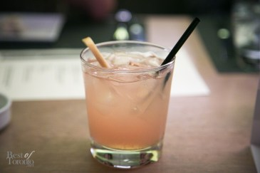 The Extra Mile: Johnnie Walker Scotch Whisky, freshly squeezed grapefruit juice, Grand Marnier liqueur, maple syrup garnished with a grapefruit twist