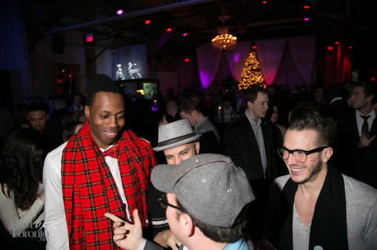 Kardi, Karl Wolf and Shawn Desman talking to Israel