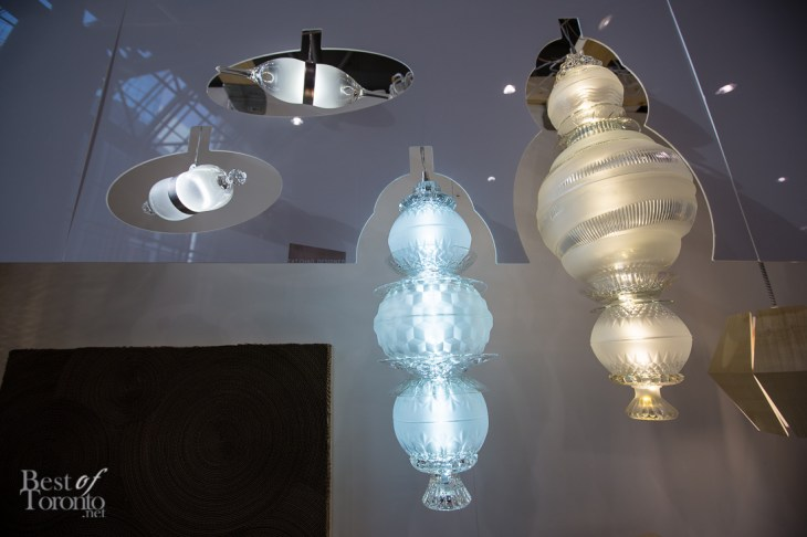 Bowls and wine glasses repurposed as lamps