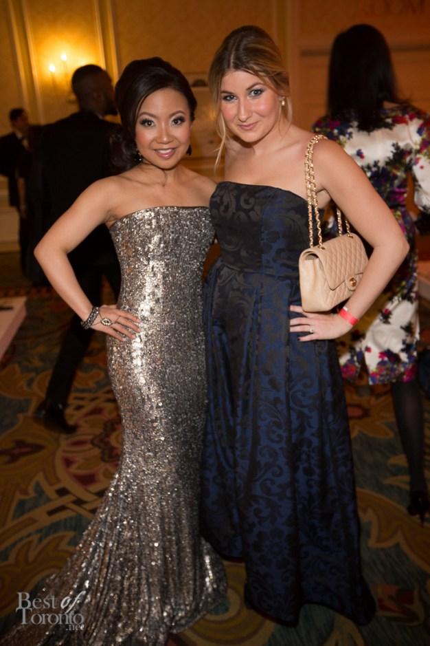 Deborah Lau-Yu (wearing Romona Keveza), Melissa Baum