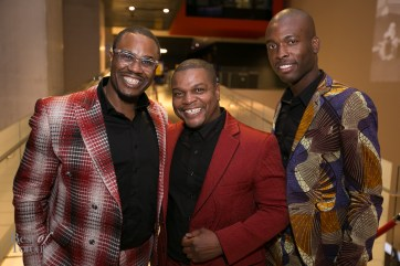 Featured RAFF 2014 Artist Kehinde Wiley (middle) with Craig Fletcher, Rahsaan Gandy