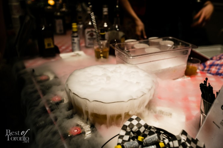 "The dry ice by Boots n Bourbon used in their ""Coffee and Donuts"" cocktail (Adrien Stein)"