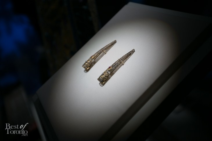 Nail guards made of silver from the Qing dynasty to protect the extremely long nails of Imperial ladies