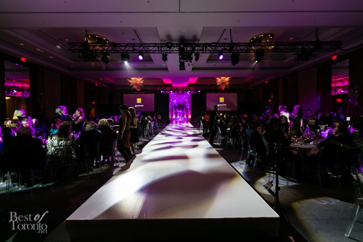 The runway before the show starts