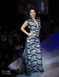 Veronica Chail on the runway