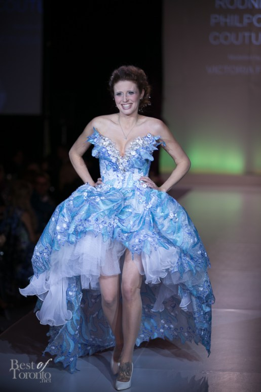 Victoria Ford wearing Philpott Couture