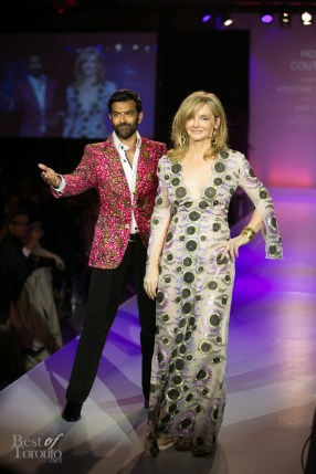 Actor Zaib Shaikh with Kirstine Stewart, head of Twitter Canada