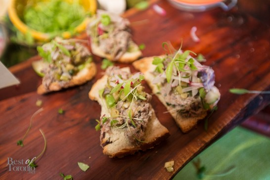 Duck Rilette with celery, apple and green peppercorn by Ross and Simon Fraser of Fraser Cafe, Ottawa