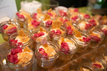 Rhubarb Syllabub, toasted almond and maple by Renee Bellefeuille for Frank Restaurant, Toronto