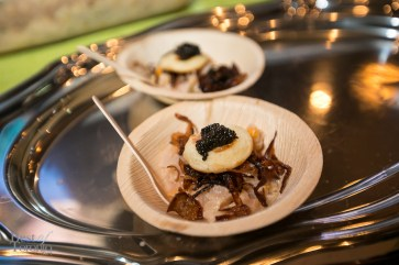 Sturgeon ceviche topped with Acadian caviar by Acadian Sturgeon and Caviar