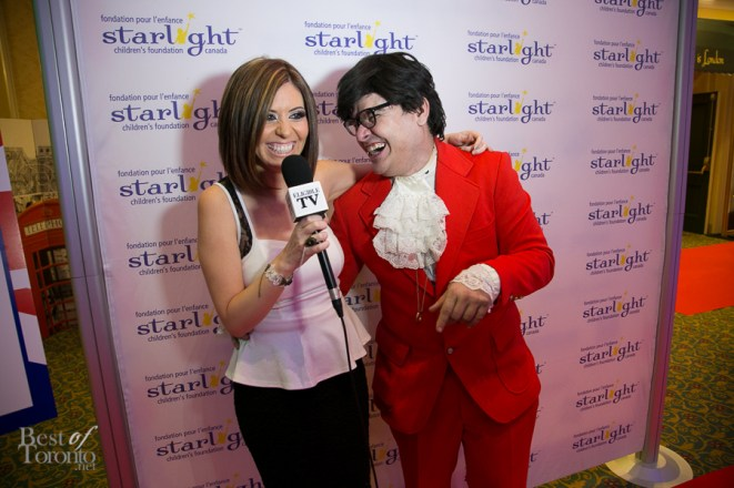 Carla Hernandez and Austin Powers having a laugh