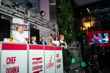 Chef Donna Dooher (Mildred's Temple Kitchen) announced as the Daily Bread UFC winner   Photo: Nick Lee