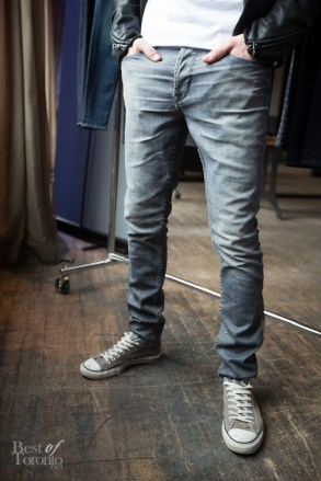 """In men's jeans we have """"Sartor: search & destroy"""" with a slouchy skinny fit"""