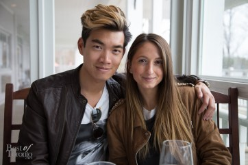 Always so photogenic: Alexander Liang, Justine Iaboni