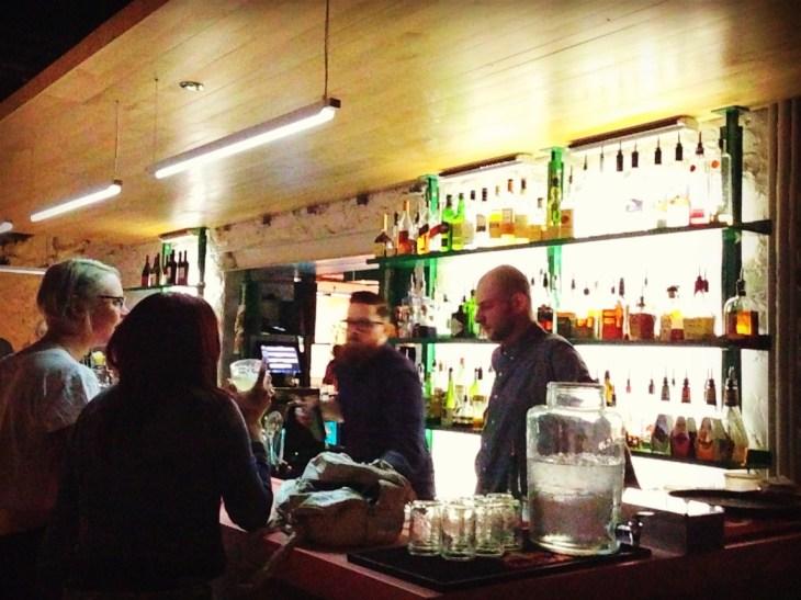 Fully stocked bar at SPiN