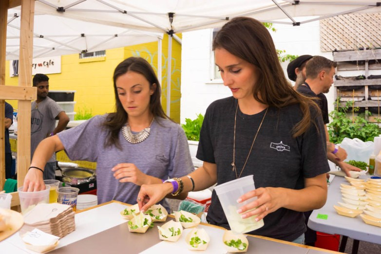 The Grove plates their delicious Ricotta with Sweet Pea