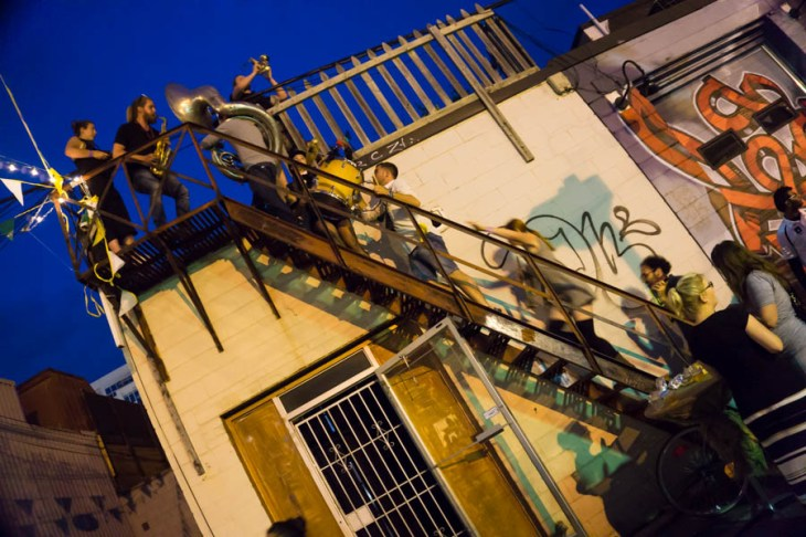 Rambunctious climbing the fire escape