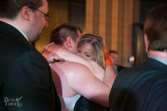 Post-fight hug