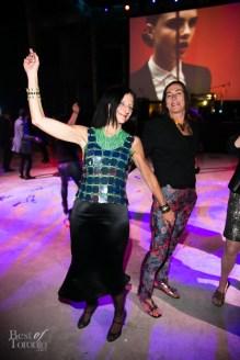 Sara Diamond on the dance floor