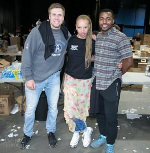 Stacey McKenzie and Toronto Argo players