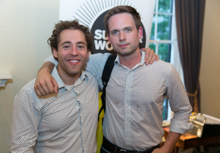 Michael Rubenfeld (Summerworks Artistic Producer), Patrick J. Adams (Suits star)